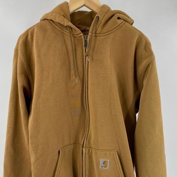 Carhartt men's zip up hoodie tan